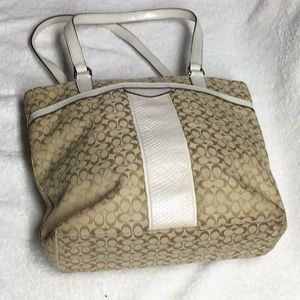 Coach Signature Jacquard purse